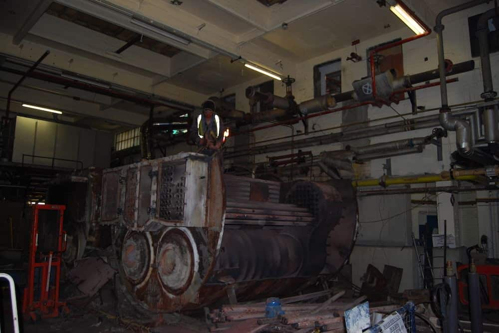 The site back in 2010 prior to the installation of the CHPs showing the old boilers