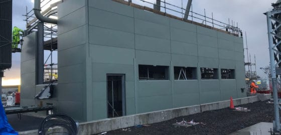 Before the Windows and doors are added