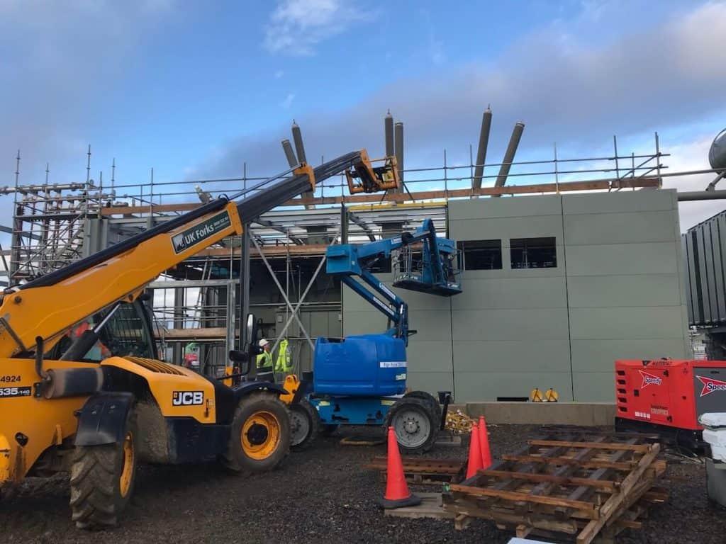 Telehandlers help on site too at Moray East
