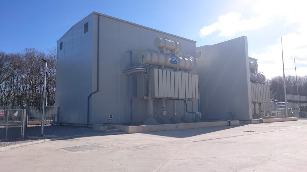 Another completed image of Acoustic Enclosure for Dong Energy at Burbo Bank sub-station