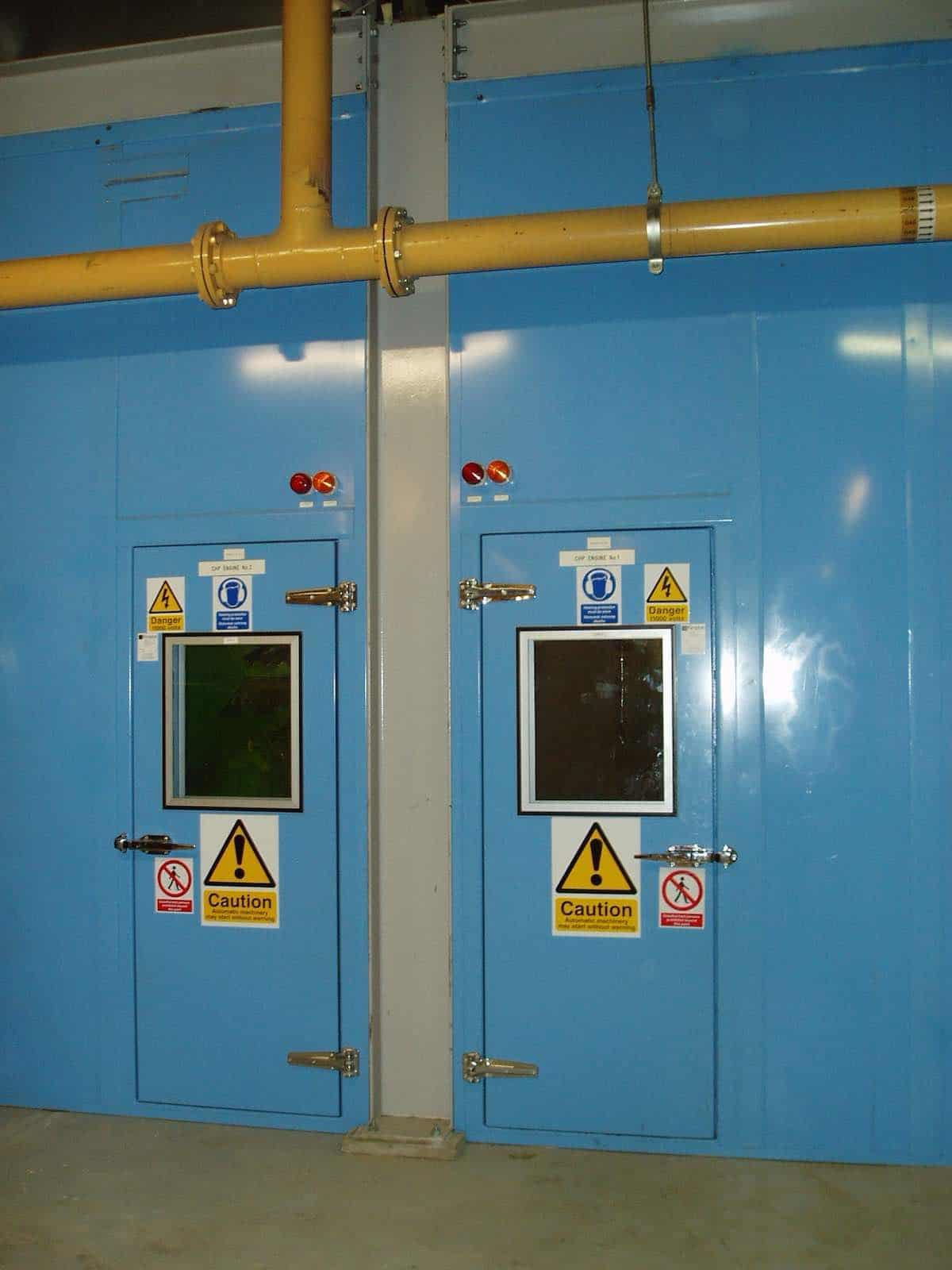 BP Sunbury Acoustic Doors for noise reduction