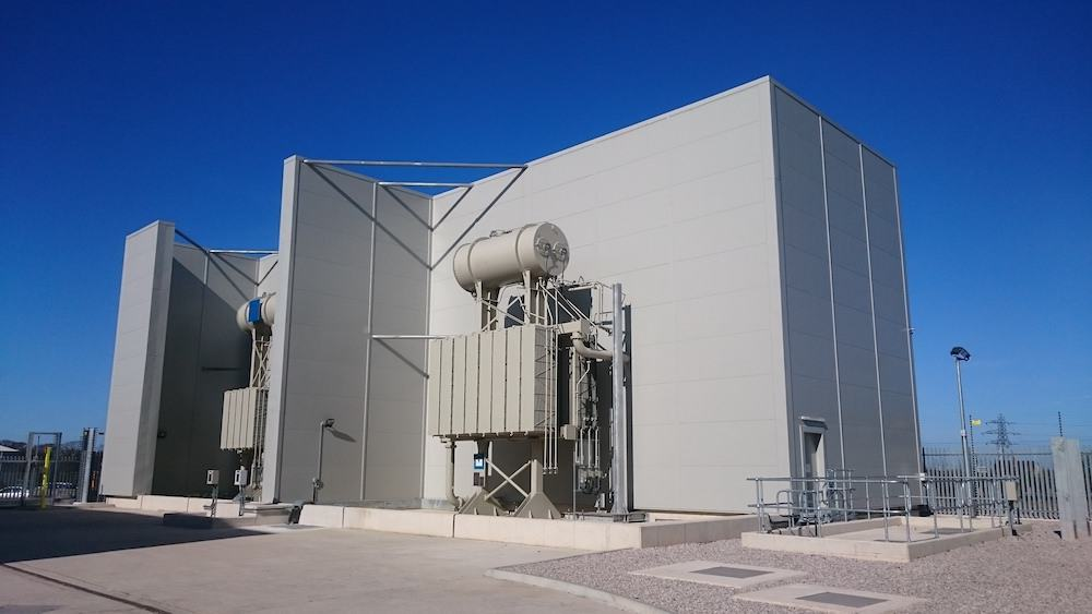 Completed Acoustic Enclosure for Dong Energy at Burbo Bank sub-station