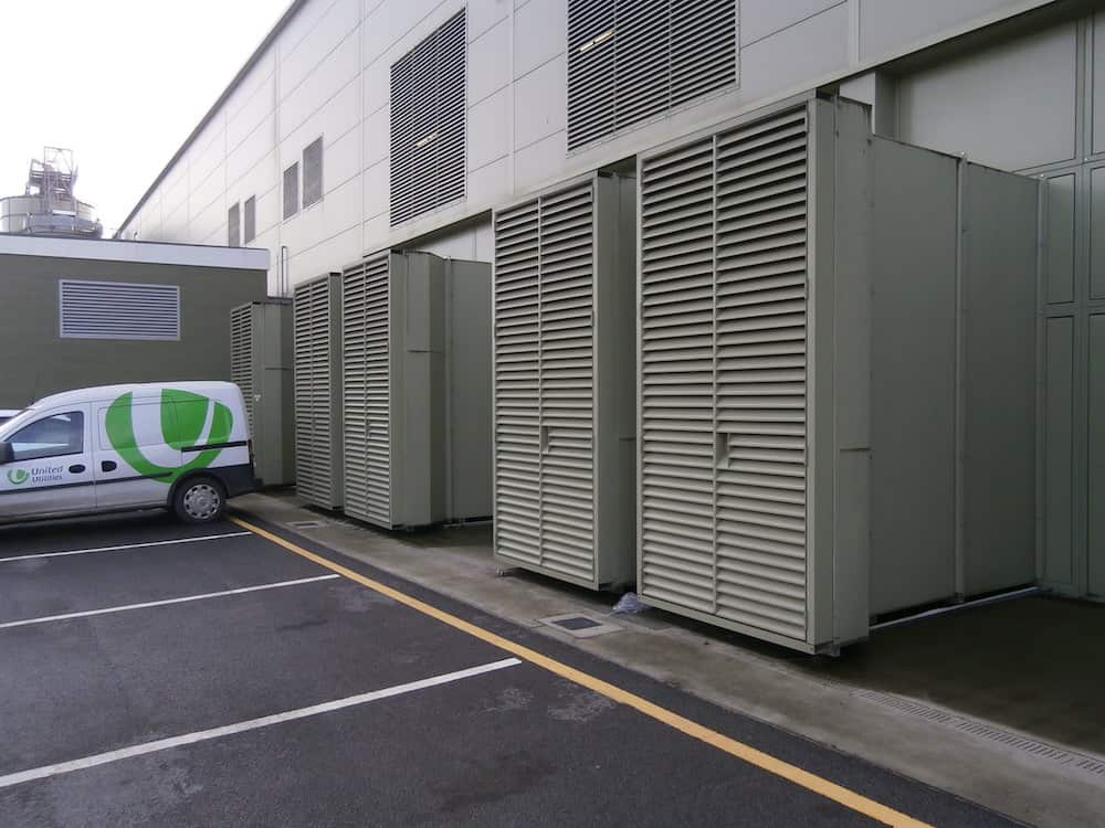 Davyhulme Waste Water treatment Works Acoustic Enclosure for Clarke Energy acoustic ventilation