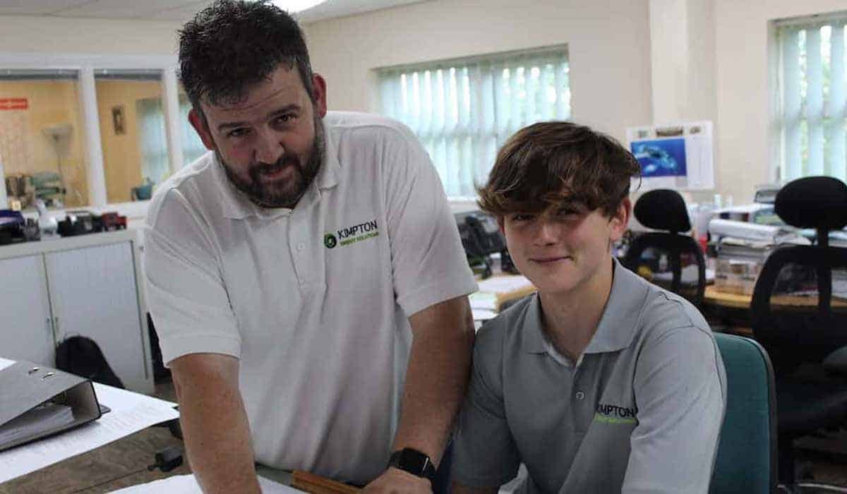 Josh Anderson with Mark Farrel At Kimptons on work placement
