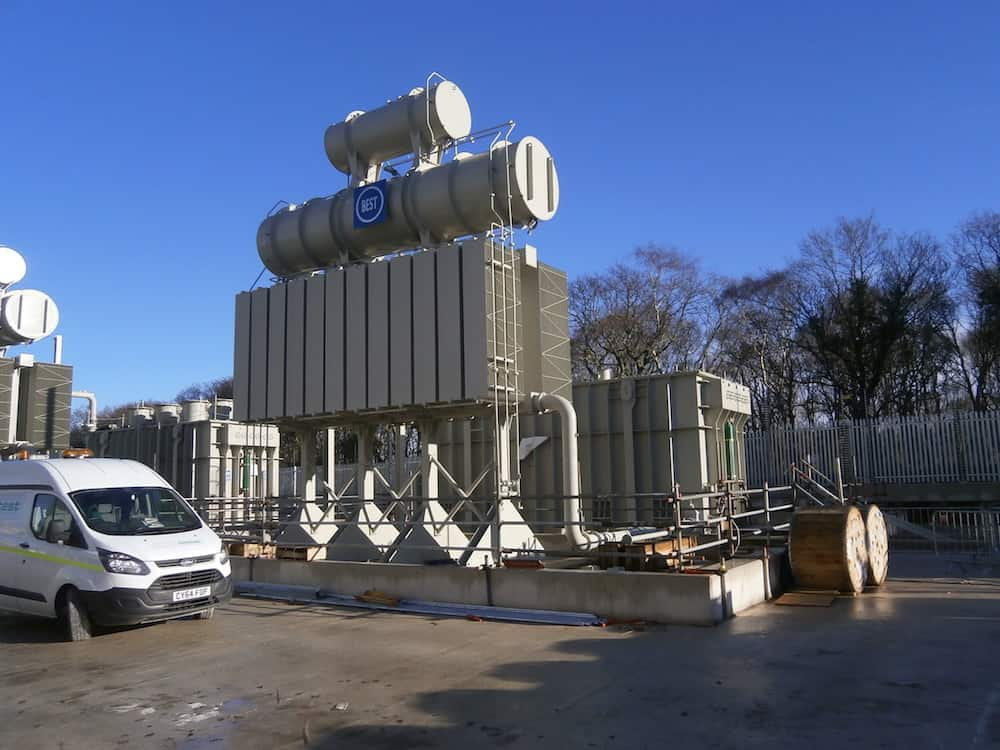 Prior to adding Acoustic Enclosure for Dong Energy at Burbo Bank sub-station