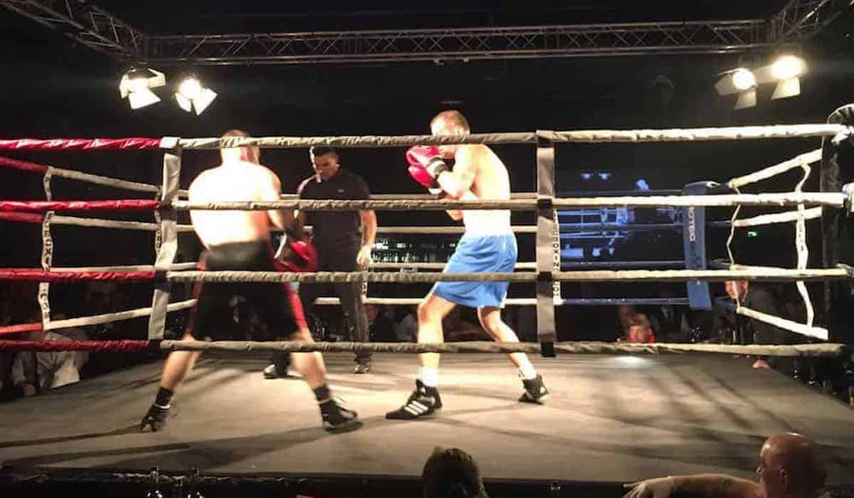 Richard Kimpton Boxing During his bout for Alder Hey Hospital