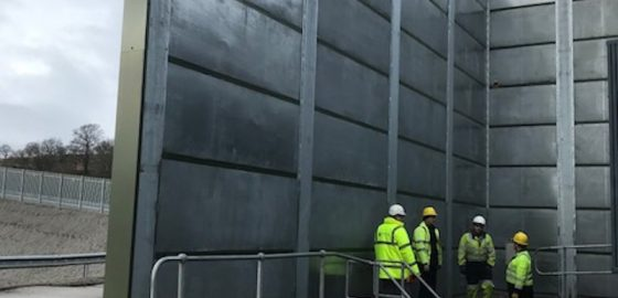 The Kimpton Acoustics team on site as the Acoustic Barriers are dismantled