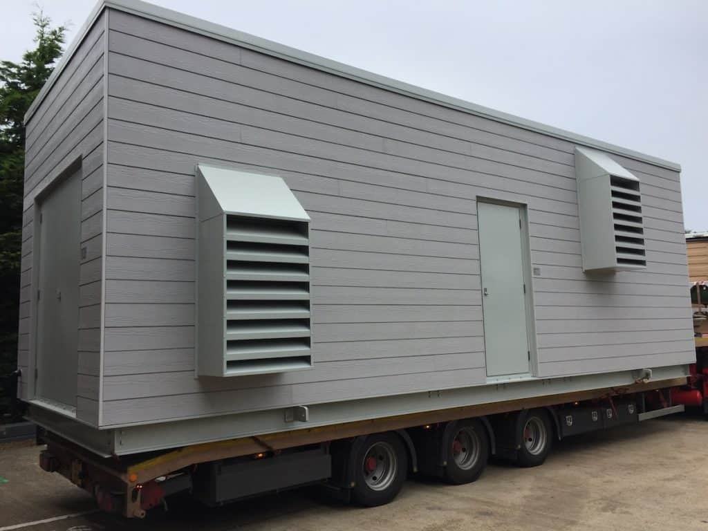 The latest containerised plant room leaves the workshop for Aberdeen