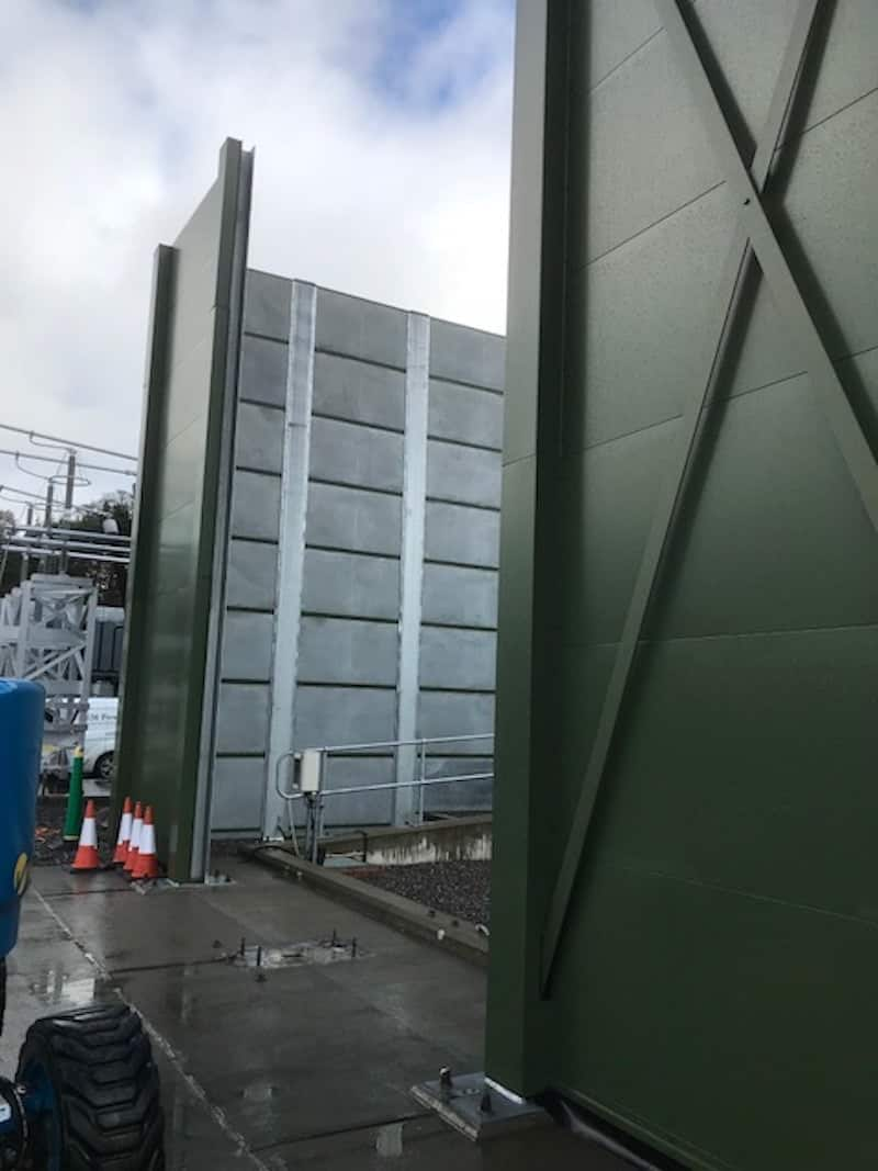 The space has been made to slide the new transformer into place by removing the acoustic barriers