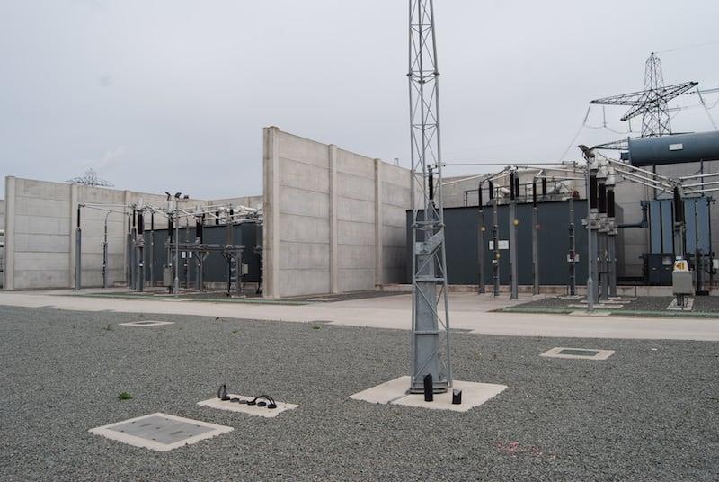 Two different acoustic enclosures between concrete blast walls