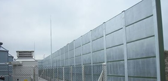 Noise absorber Acoustic panel or fence